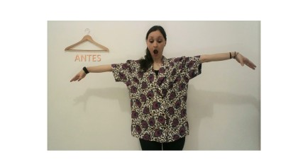 blusa vintage VIRA colete - ANTES