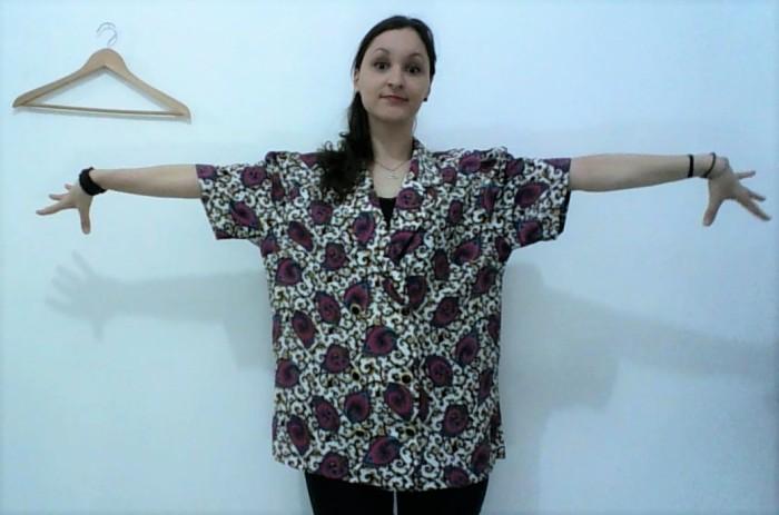 Reciclagem camisa vintage VIRA colete 4 jazz